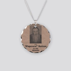 Popcorn Sutton Wanted Poster Necklace Circle Charm