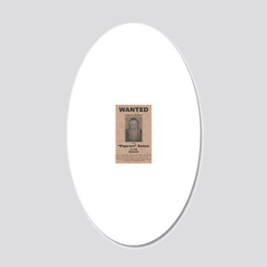 Popcorn Sutton Wanted Poster 20x12 Oval Wall Decal