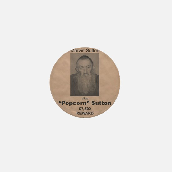 Popcorn Sutton Wanted Poster by McMinn Mini Button