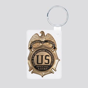 dea badge Aluminum Photo Keychain
