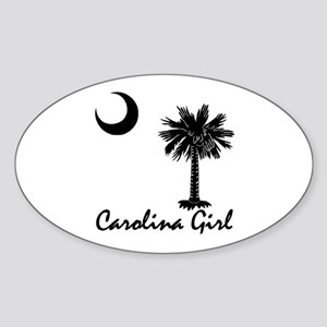 Carolina Girl Oval Sticker