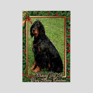Gordon Setter Dog Christmas Rectangle Magnet