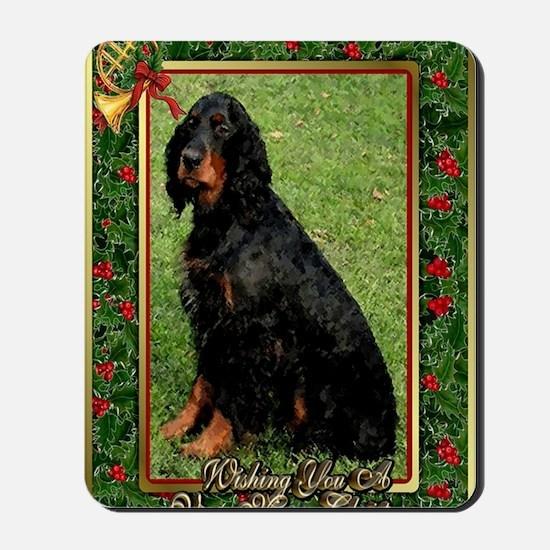 Gordon Setter Dog Christmas Mousepad