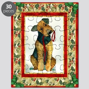 Airedale Terrier Christmas Puzzle