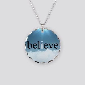 Believe - I Believe Necklace Circle Charm