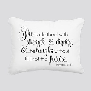 She is Clothed with Stre Rectangular Canvas Pillow