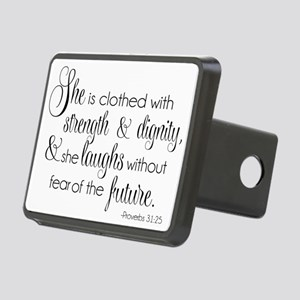She is Clothed with Streng Rectangular Hitch Cover