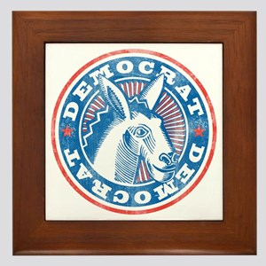 Vintage Democrat Framed Tile