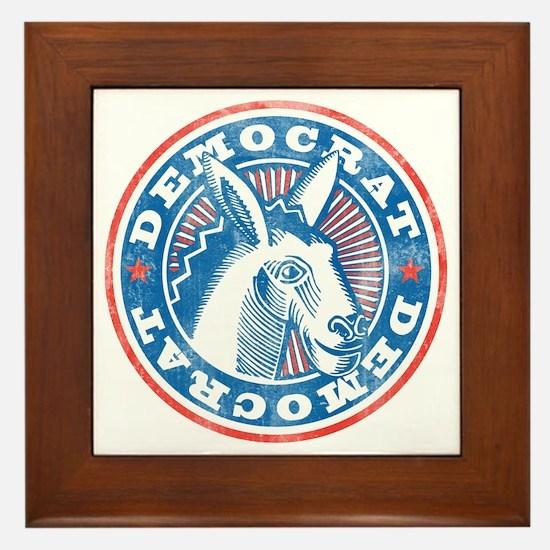 Vintage Democrat Framed Tile