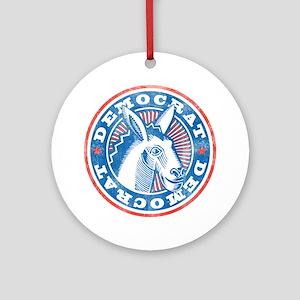 Vintage Democrat Ornament (Round)