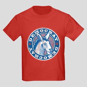 Vintage Democrat Kids Dark T-Shirt