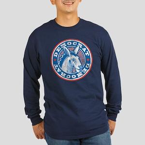Vintage Democrat Long Sleeve Dark T-Shirt