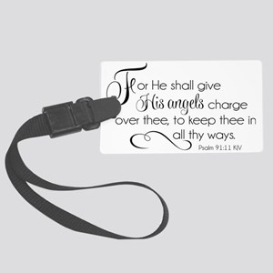 He Shall Give His Angels Charge  Large Luggage Tag