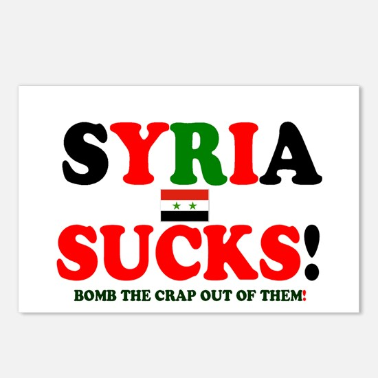 SYRIA SUCKS - BOMB THE CR Postcards (Package of 8)