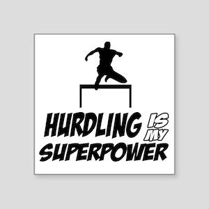 """Hurdling track designs Square Sticker 3"""" x 3"""""""