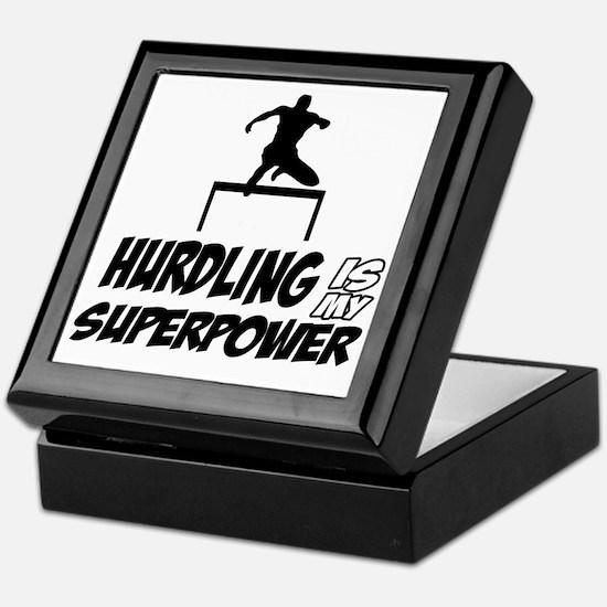 Hurdling track designs Keepsake Box