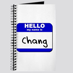hello my name is chang Journal