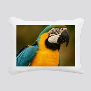 blue and gold macaw Rectangular Canvas Pillow