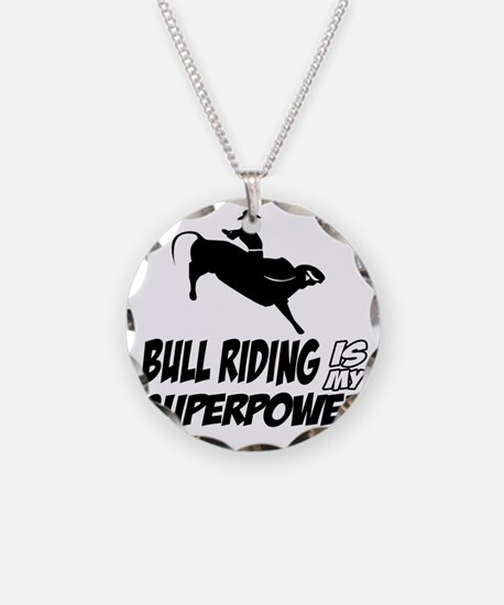 Bull rider designs Necklace