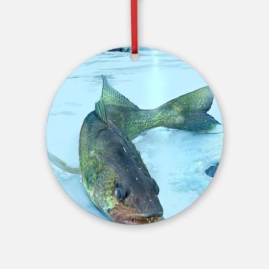 Walleye Ice Round Ornament