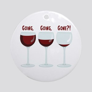 GOING, GOING, GONE?! Ornament (Round)