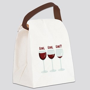 GOING, GOING, GONE?! Canvas Lunch Bag