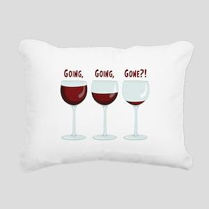 GOING, GOING, GONE?! Rectangular Canvas Pillow