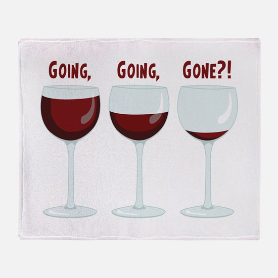 GOING, GOING, GONE?! Throw Blanket