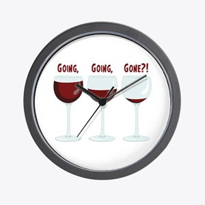 GOING, GOING, GONE?! Wall Clock