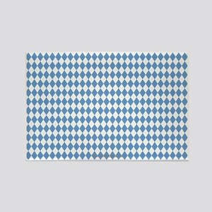 UNC Carolina Blue Argle Basketbal Rectangle Magnet