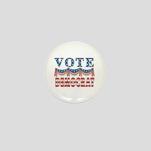 Vote Democrat Mini Button