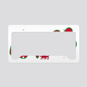 WALES graffiti text License Plate Holder