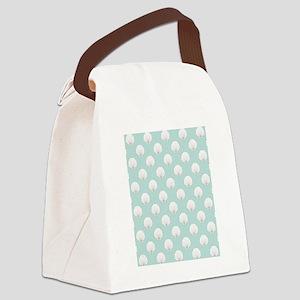 Clamshells SB W Lt Teal Canvas Lunch Bag