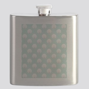Clamshells SB W Lt Teal Flask