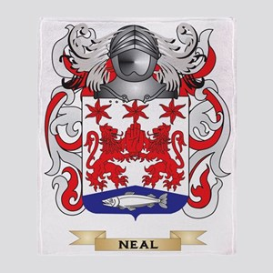 Neal Coat of Arms (Family Crest) Throw Blanket