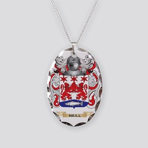 Neill Coat of Arms (Family Cre Necklace Oval Charm