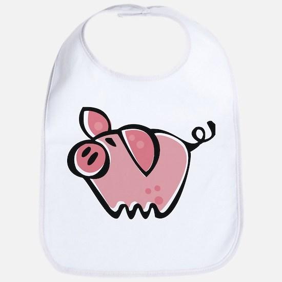 Cute Cartoon Pig Bib
