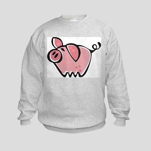 Cute Cartoon Pig Kids Sweatshirt