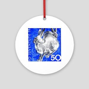 1965 Switzerland Alpine Hare Postag Round Ornament