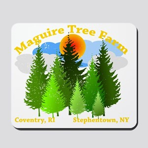 tree farm w/ stephentown Mousepad