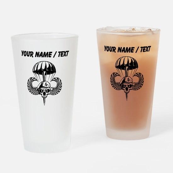 Custom Paratrooper Skull Drinking Glass