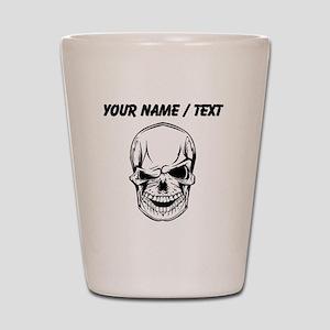Custom Winking Skull Shot Glass