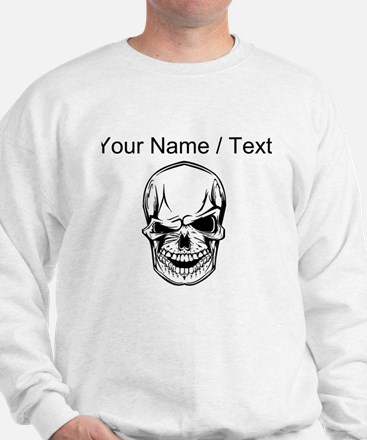 Custom Winking Skull Sweater