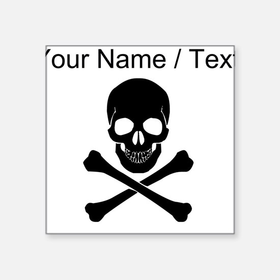 Custom Skull And Crossbones Sticker