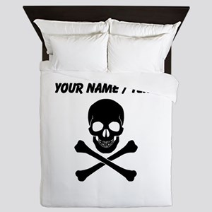 Custom Skull And Crossbones Queen Duvet