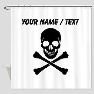 Custom Skull And Crossbones Shower Curtain