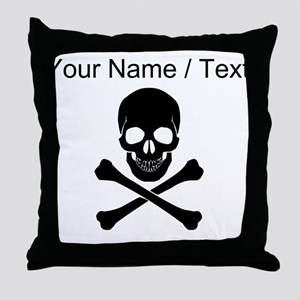 Custom Skull And Crossbones Throw Pillow