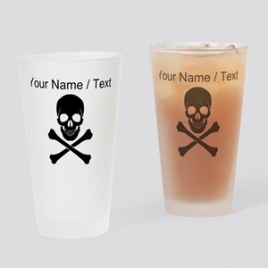 Custom Skull And Crossbones Drinking Glass