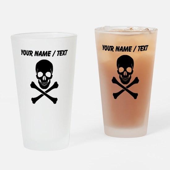 Custom Skull And Crossbones Drinking Glass