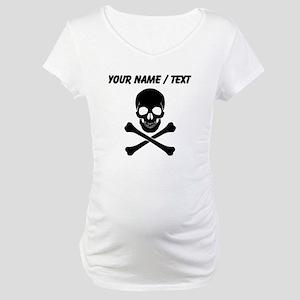 Custom Skull And Crossbones Maternity T-Shirt